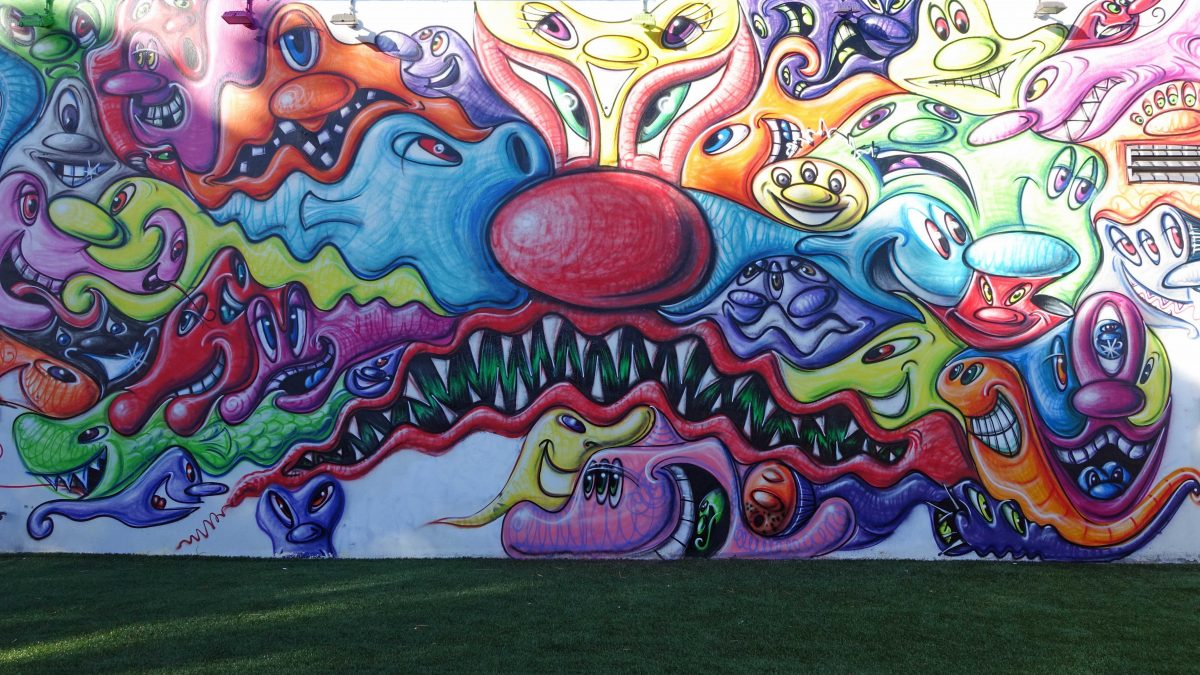 The closest you'll come to coloring a Wynwood wall
